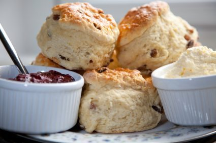 Scones, cream and jam